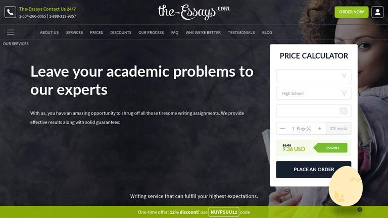The-Essays.com Discount Coupon