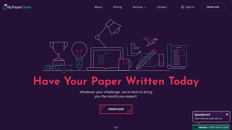 MyPaperDone.com Discount Coupon