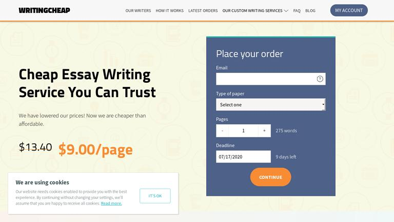 WritingCheap.com Discount Coupon