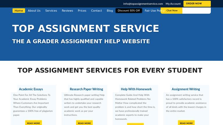 TopAssignmentService.com Discount Coupon