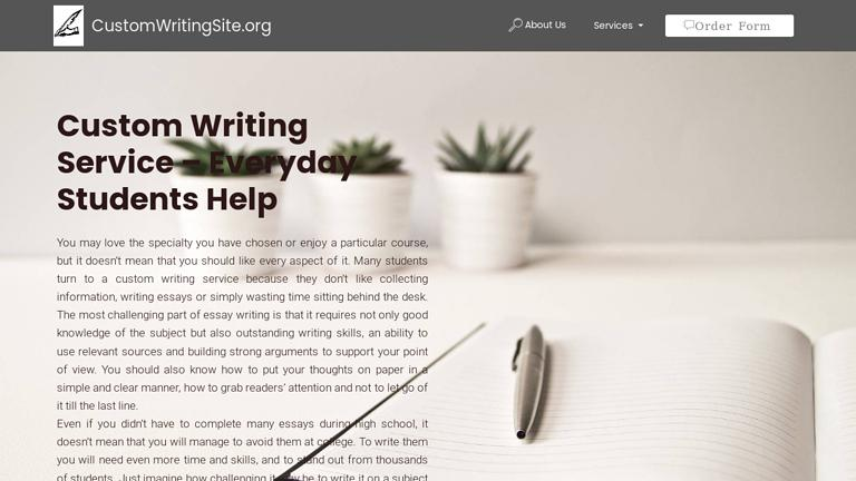 CustomWritingSite.org Discount Coupon