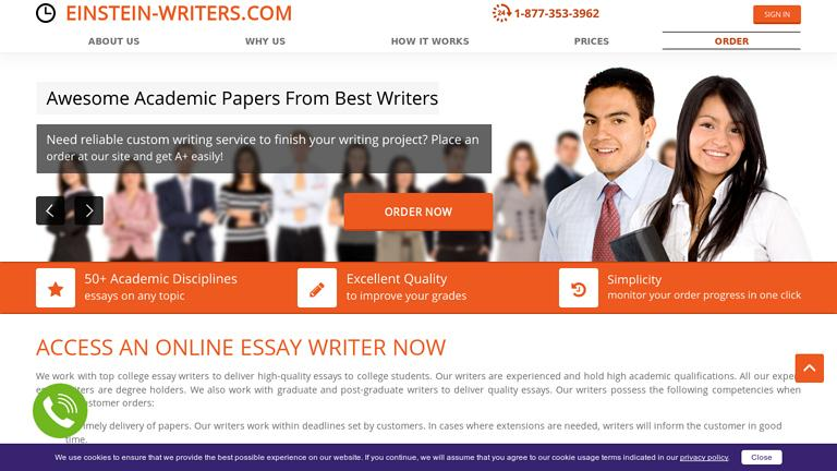 Einstein-Writers.com Discount Coupon
