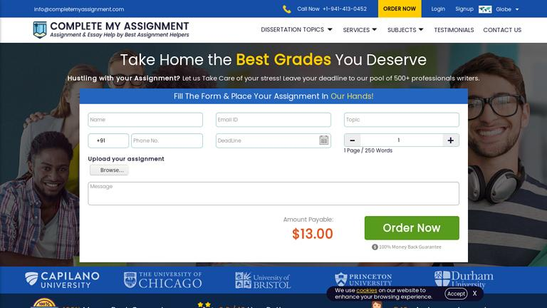 CompleteMyAssignment.com Discount Coupon
