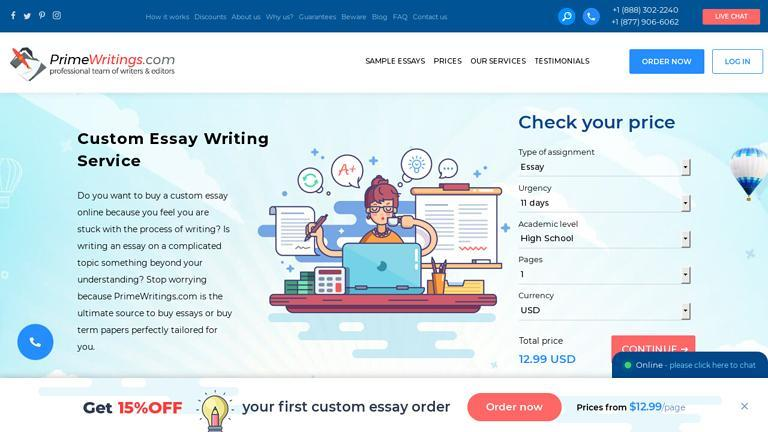 PrimeWritings.com Discount Coupon